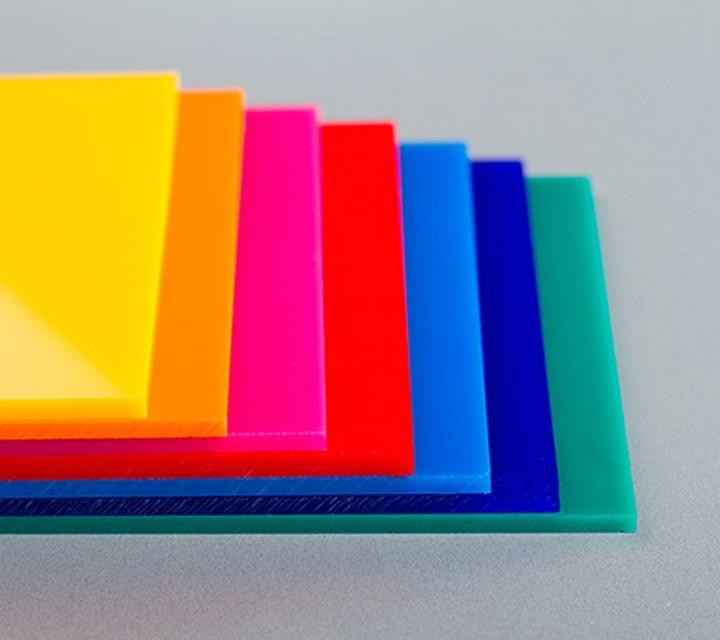 Plancha de metacrilato/plexiglas opal de colores